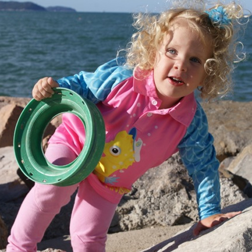 Quality sun safety shirts for children l Hi-vis kids - sailor-the-seahorse